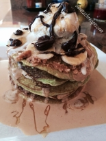 Key Lime Peanut Butter Banana Protein Pancakes